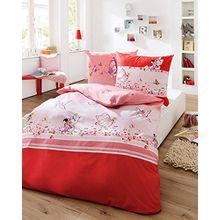 Kaeppel Bettwäsche rot-rosa Größe 100x135 cm (40x60 cm)