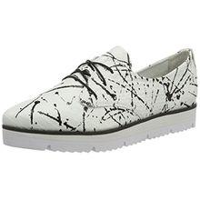 GERRY WEBER Shoes Damen Evelyne 11 Derby, Mehrfarbig (Weiss-Multi), 40 EU