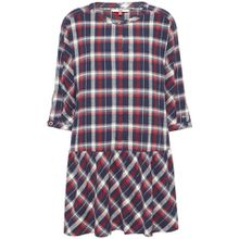 TOMMY JEANS Karokleid »TJW 3/4 SLEEVE DROP WAIST DRESS« mit modischem Karo in Flanelloptik