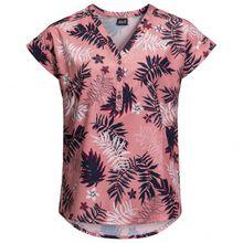 Jack Wolfskin - Women's Victoria Leaf Shirt - Bluse Gr L;M;S;XS grau/blau;grau/rosa/rot