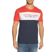 U.S. Polo Assn. T-Shirt in blau für Herren
