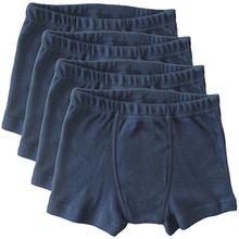 HERMKO 2900 4er Pack Jungen Pants - reine Baumwolle, Farbe:marine, Größe:128