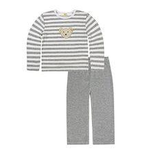 Steiff Unisex Kinder Zweiteiliger Schlafanzug 2-tlg, Grau (Softgrey Melange 8200), 9 Jahre (Herstellergröße: 134)