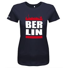 Berlin Skyline - Damen T-Shirt in Navy by Jayess Gr. S
