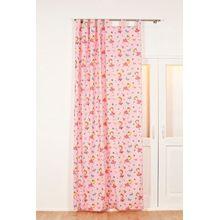 Vorhang Ballerina blickdicht, 140 x 260 cm rosa/weiß