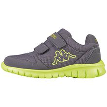 Kappa Unisex-Kinder Note Kids Low-Top, Grau (1333 Anthra/Lime), 27 EU