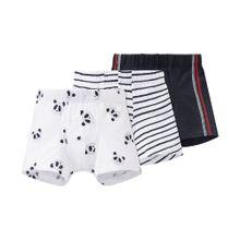 SCHIESSER Shorts schwarz / weiß