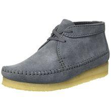 Clarks Originals Damen Weaver Boot. Chukka, Blau (Slate Suede), 37.5 EU