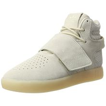 adidas Unisex-Kinder Tubular Invader Strap Hohe Sneaker, Braun (Clear Brown/Clear Brown/Chalk White), 39 1/3 EU
