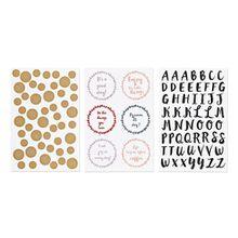 3 Bögen Porzellan-Sticker