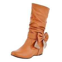 Nonbrand, Damen Stiefel & Stiefeletten , Beige - Beige - marrón - Größe: 46