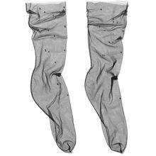Pan & The Dream - Socken Aus Tüll Mit Swarovski-kristallen - Schwarz
