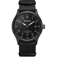 POP PILOT Uhren schwarz