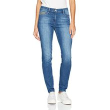 Brax Damen Skinny Jeans BX_MAYA Patch, Blau (Used New Blue 25), W34/L32 (Herstellergröße: 44)