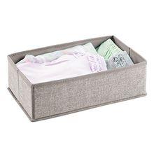 mDesign Baby Organizer – Aufbewahrungsbox für Babysachen, Decken etc. – auch zur Spielzeug Aufbewahrung geeignet – beige