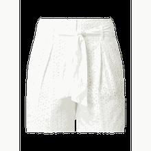 Shorts mit Lochstickereien
