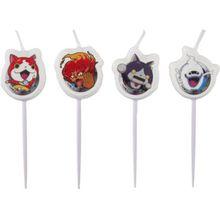 Amscan Figurenkerzen Yo-Kai Watch, 4 Stück
