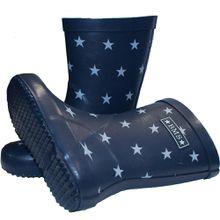 BMS Gummistiefel mit Sternen blau