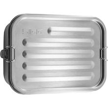 Edelstahl-Brotdose GEMSTONE FOOD BOX, auslaufsicher silber-kombi