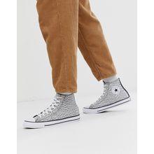 Converse - All Star Chuck Taylor - Hi-Top-Stoffschuhe in Grau bedruckt - Grau