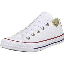 Converse Damen Niedrige Sneaker, Bianco, 36.5 EU