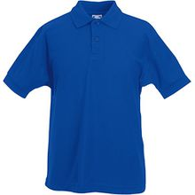Fruit of the Loom - Kinder Poloshirt 'Piqué Polo 65/35' 116,Royal