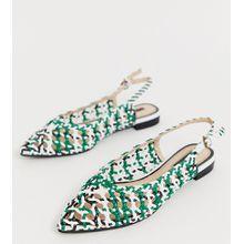 Miss Selfridge - Mehrfarbige, spitze Schuhe mit geflochtenem Design - Mehrfarbig