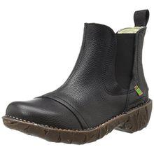 El Naturalista S.A N158 Soft Grain Yggdrasil, Damen Kurzschaft Stiefel, Schwarz (Black), 36 EU