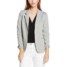 ICHI Damen Anzugjacke Kate BL,Grau (Grey Melange 10020),38 (Herstellergröße: M)