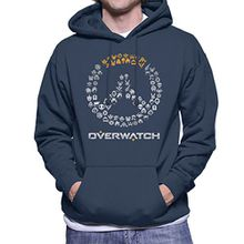 Overwatch Logo Character Heads Men's Hooded Sweatshirt
