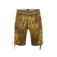 COUNTRY LINE ® kurze Lederhose Shorts braun Herren