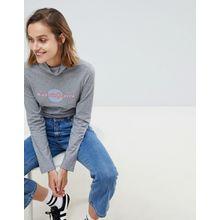 """MiH Jeans - Polohemd mit """"Heaven""""-Schriftzug - Grau"""