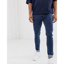 Soul Star - DEO - Enge Jeans in Mittelblau - Blau