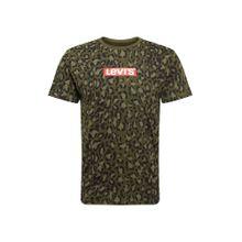 LEVI'S T-Shirt 'GRAPHIC SET-IN NECK 2' braun / dunkelgrün