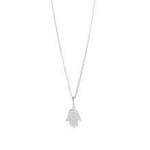 Kids Halskette Hand der Fatima Silber