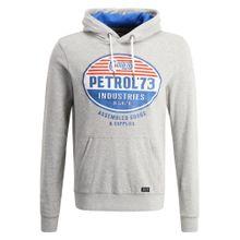Petrol Industries Hoodie blau / grau / rot / naturweiß
