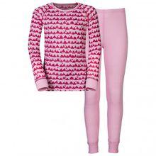 Odlo - Set Shirt L/S Pants Long Warm Kids - Kunstfaserunterwäsche Gr 104;116;128;140;152;164;80;92 schwarz/blau;rot/rosa;schwarz;blau/grau