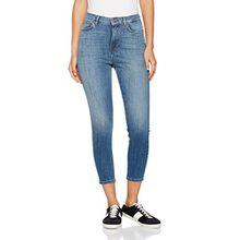 ONLY Damen Jeanshose Onlposh HW Blue SK Crop Dnm Jea Rea Noos, Blau (Medium Blue Denim), W27/L30