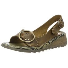 FLY London Damen Tram723fly Slingback Sandalen, Braun (Camel), 37 EU