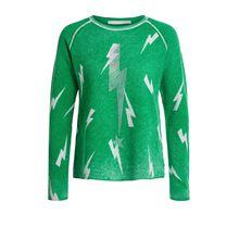 Kaschmirmix Pullover mit Blitzen