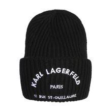 Karl Lagerfeld Mütze 'Rue st guillaume' schwarz / weiß