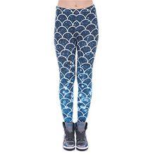 DD.UP Damen Strumpfhose Sport Print Yoga Leggings Workout Fitness Running Pants Mehrfarbig One Size