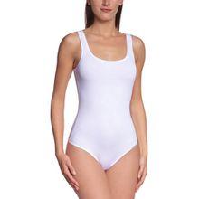Skiny Damen Bodys Body Collection Body ohne Arm, Gr. 38, Weiß (0500 WHITE)