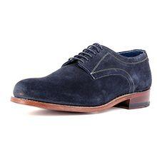 Gordon & Bros Herrenschuhe Levet 2320 Klassischer rahmengenähter Schnürhalbschuh mit Derbyschnürung und Schuhspanner im Geschenkset blau (Navy), EU 43