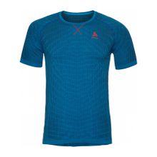 Odlo - Evolution Light Blackcomb BL Top Crew Neck Shortsleeve Herren Funktionsshirt (blau) - XL