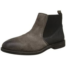 FLY London WAZI938FLY, Herren Chelsea Boots, Schwarz (Ash/Black 000), 44 EU
