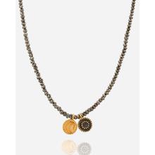Satya Halskette Sonne und Mond Galaxy mit Pyrit - Gold