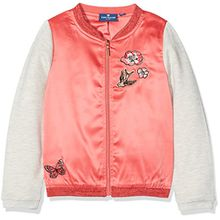 TOM TAILOR Kids Mädchen Sweatshirt Bomber Jacket with Embro, Orange (Flashy Coral 5458), 134