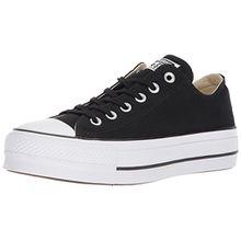 Converse Damen CTAS Lift OX Black/Garnet/White Sneaker, Schwarz (Black/Garnet/White 001), 35 EU