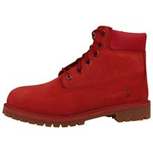 Timberland Unisex-Kinder 6 in Classic Boot Klassische Stiefel, Rot (Red Nubuk Monochromatic 626), 39.5 EU